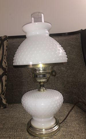 Vintage White Milk Glass Hobnail Hurricane Table Lamp Fenton. Please see all the pictures and read the description for Sale in Falls Church, VA