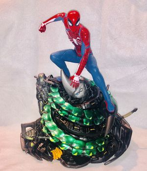 Advanced suit Spider-Man Statue PS4 suit pvc made new in box special edition collectible 7 inches tall for Sale in Queens, NY