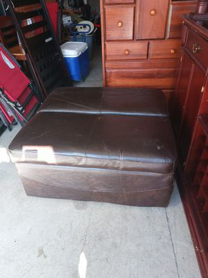 Leather ottoman twin size bed with mattress for Sale in Lansing, IL