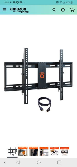 Tilting TV Wall Mount with Low Profile Design for 32-70 inch TVs - Eliminates Screen Glare with 15 Degrees of Smooth Tilt. for Sale in Stone Mountain, GA