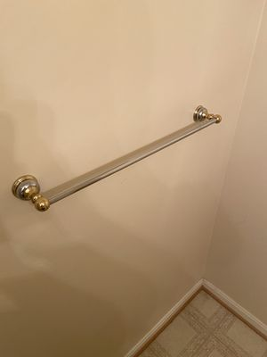 Three piece brass / chrome towel rack set for Sale in Springfield, VA