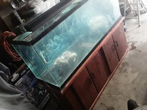 Really nice 120g fish tank setup well come with gravel to for Sale in Highland, CA