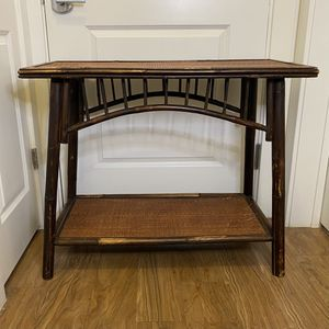 Vintage rattan console table for Sale in Alexandria, VA