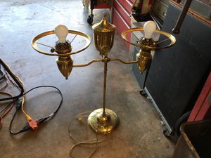 Vintage solid brass converted to electric light oil lamp duplex for Sale in Coconut Creek, FL