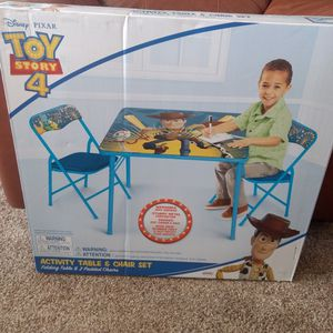 Toy Story 4 Chair And Table Set for Sale in Tijeras, NM