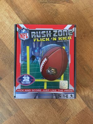 Rush Zone Flick N Kick NFL Football Board Game for Sale in Arvada, CO