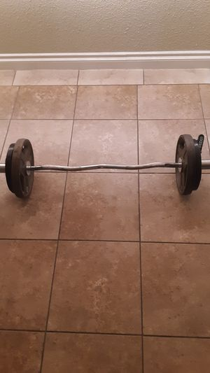 Weights & Ez curl bar for Sale in Las Vegas, NV