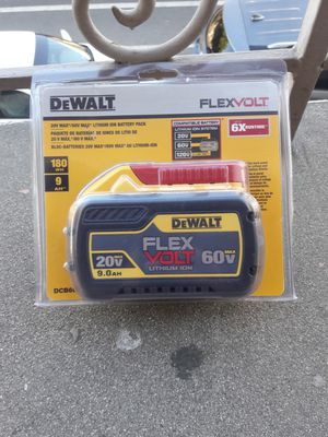 DeWALT 20V MAX/ 60V MAX LITHIUM ION BATTERY PACK 9.0 for Sale in Hacienda Heights, CA