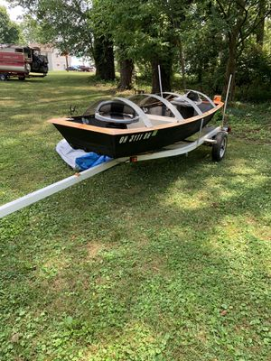 13' flat bottom fishing boat for Sale in Norton, OH