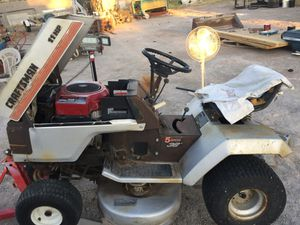 Craftsman riding lawn mower for sell parting out ! My be trade for Jeep Hard Top TJ ! Let me no what u got Ok thax Reggie red big motor is good other for Sale in Las Vegas, NV