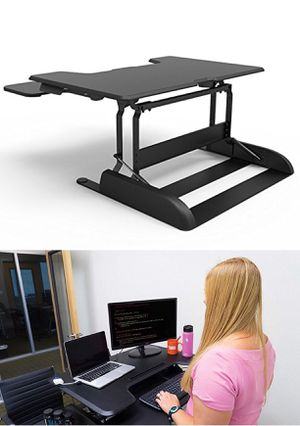 "New in box 36"" Logix Desk LDCX3604B Logix Desk height adjustable stand up standing improve posture desk desktop laptop Black or White color retail fo for Sale in West Covina, CA"