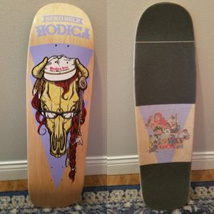 9.5 send help skateboard deck with custom grip for Sale in Waynesville, MO