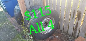 Chevy 8 Lug Tires + Wheels set - 245/75/16 for Sale in Seattle, WA