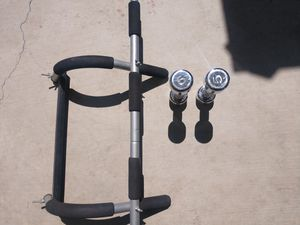 Pull-up bar and 5lbs dumbells for Sale in Orange, CA