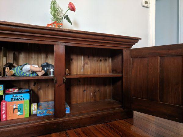Shaker style buffet, sideboard, China cabinet
