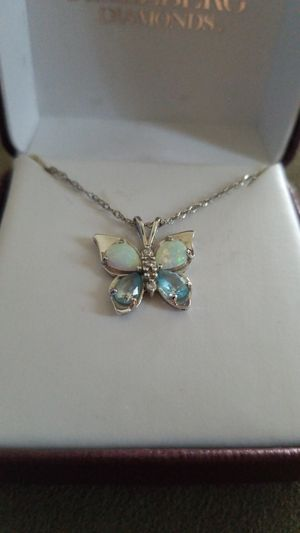 Helzberg Diamonds Opal and Blue Topaz Butterfly for Sale in Lakewood, CO