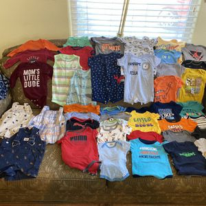 Bundle Of Baby Boy Clothes From 0 To 6 Months for Sale in Baldwin Park, CA