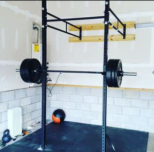 Rogue wall mount, 230 lbs HG bumpers, barbell for Sale in Elk Grove, CA