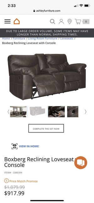 Ashley Furniture Boxberg Reclining Loveseat with Console for Sale in Raynham, MA