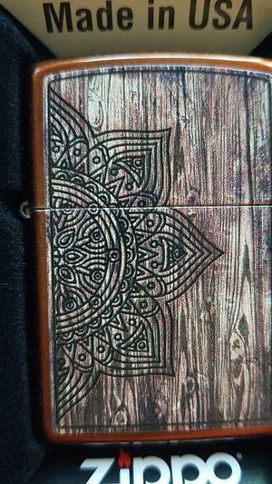 Zippo wood mandala design 29828 for Sale in Los Angeles, CA