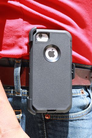 Heavy Duty Case with Clip Holster for IPhone 6,7,8 regular, 6,7,8 Plus, XR, XMax for Sale in San Bernardino, CA