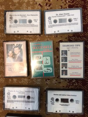 AMWAY TAPES! $2 each. Approximately 100 tapes. $100 for entire collection for Sale in Richmond, KY