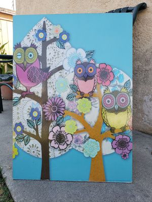 Owl wall decor for Sale in Long Beach, CA