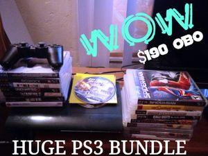 $190 OBO.A GAMERS MUST HAVE! A PS3 SLIM WITH OVER 20 OF THE BEST GAMES. ALL GAMES ARE IN AWESOME CONDITION.- SOLD AS BUNDLE ONLY -- for Sale in San Diego, CA