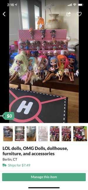 Omg/lol dolls and furniture for Sale in New Britain, CT