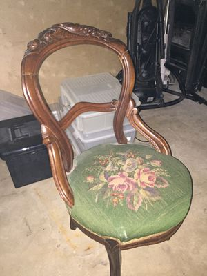 Antique needlepoint chair for Sale in Arlington, VA