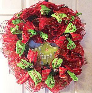 "Deco Mesh Christmas ""Hope"" Wreath for Sale in Inwood, WV"