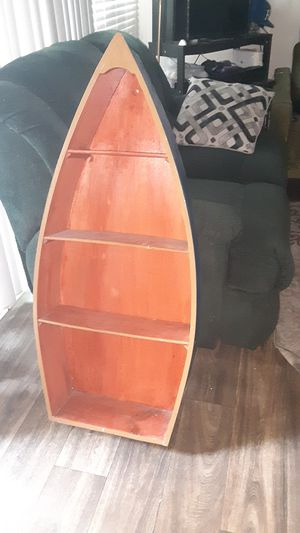 Wood wall case boat for Sale in Montclair, CA