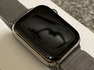 iWatch 44mm stainless steel w apple care for Sale in Providence, RI
