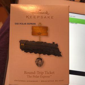 Hallmark keepsake ornament the polar express round-trip ticket for Sale in Bartlett, IL
