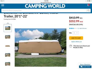 Travel trailer cover 20'22' for Sale in Wake Forest, NC