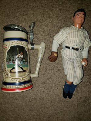 Babe Ruth Collectibles Beer Stein and mini statue for Sale in Las Vegas, NV