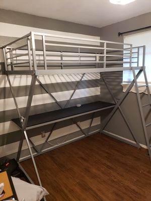 Loft bed with desk for Sale in Olympia, WA