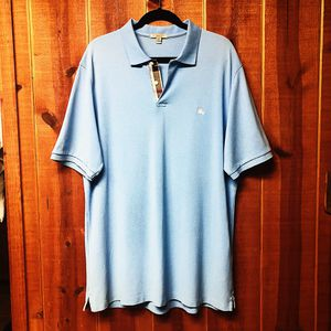Men's Burberry Check Plaquet Light Blue Polo for Sale in Salinas, CA