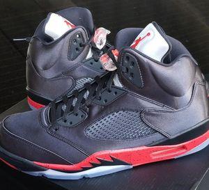 Jordan Retro 5 Satin 'Bred' Men's Size 8-13 Brand New 100% Authentic for Sale in Bronx, NY