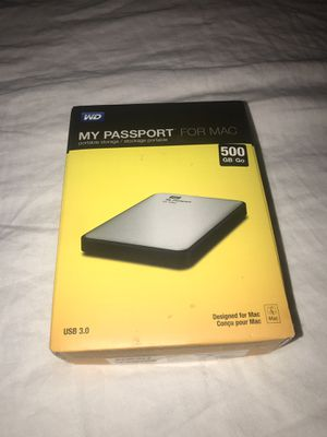 WD MY PASSPORT FOR MAC 500GB for Sale in Arlington, VA