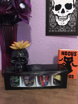 Nightmare before Christmas shot glasses for Sale in Lancaster, CA