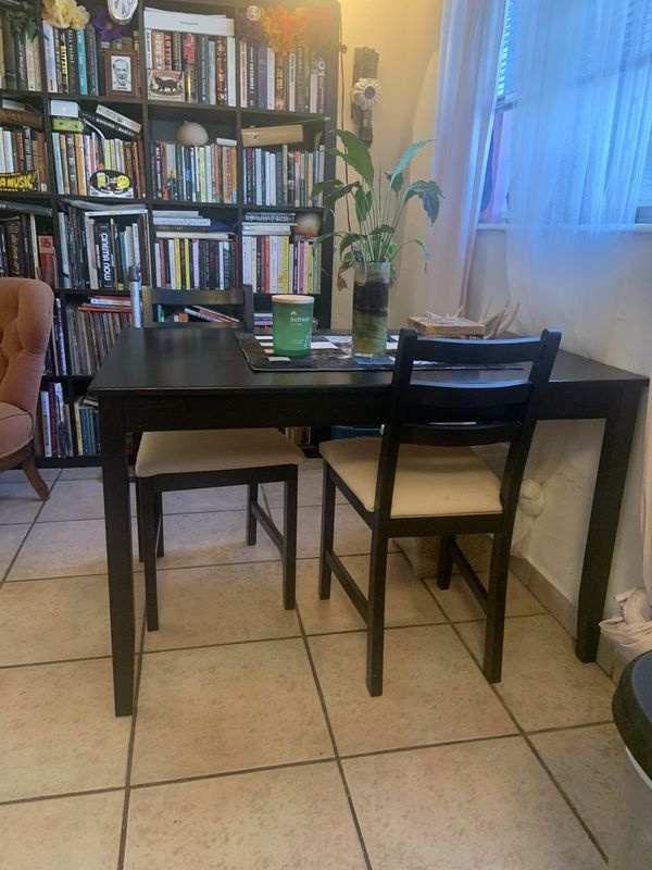 Black dining room/cafe table