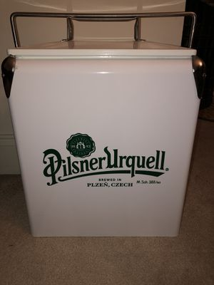 Pilsner Urquell Retro Cooler (w/ built in bottle opener) for Sale in Bound Brook, NJ