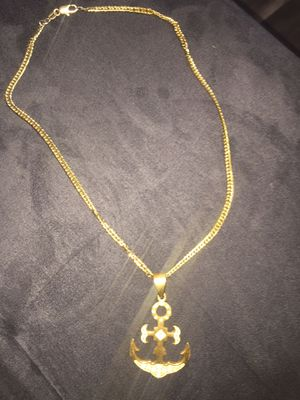 Gold anchor chain for Sale in Lincoln, RI