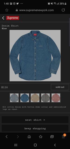 Small - Supreme Denim Shirt - FW19 for Sale in Grand Prairie, TX