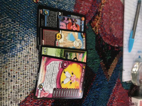 Binder full of Marvel and dragonball Z cards