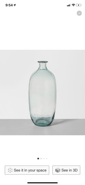 Hearth and hand large glass vase for Sale in Gilbert, AZ