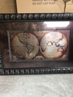 World map art for Sale in Katy, TX