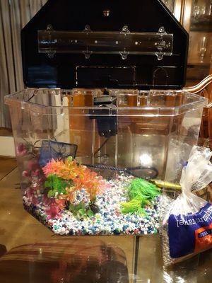 Semi-Hex Shape Fish Tank for Sale in Morrow, GA