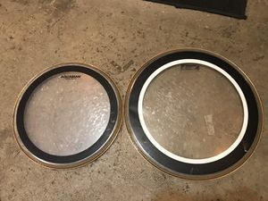 """Aquarian Drum Heads Clear Used 13"""" & 16"""" for Sale in Los Angeles, CA"""